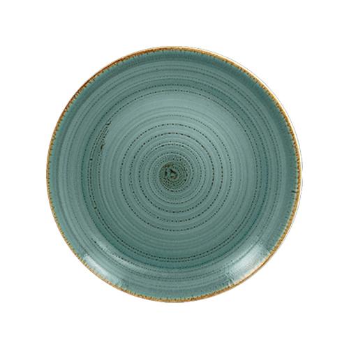 Coupebord plat diam 21cm lagoon twirl rak porcelain