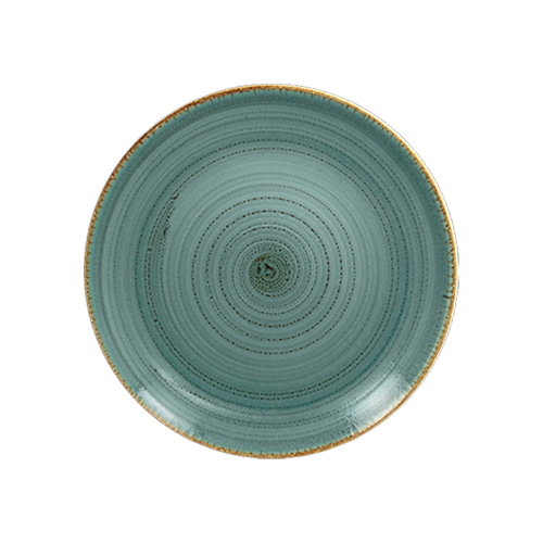 Coupebord plat diam 18cm lagoon twirl rak porcelain
