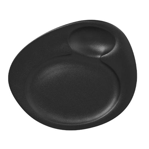 Bord 2 ringen afm 320x265mm black neofusion rak