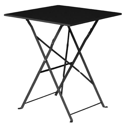 Tafel zwart staal afm 60x60x70