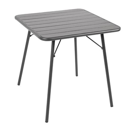 Tafel opklapbaar grijs afm 70x70x71