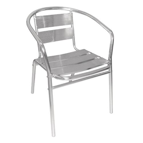 Stoel aluminium afm 53x58x73.5cm set 4 stuks