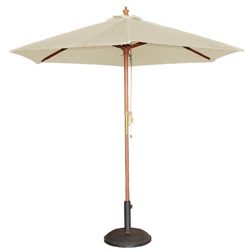Parasol rond diam 2.5m creme