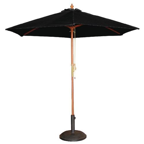 Parasol rond diam 3m zwart