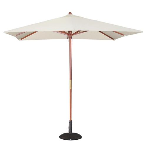 Parasol vierkant afm 2.5x2.5m creme