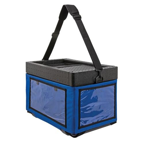 Draagbare strandbox blauw thermo future box
