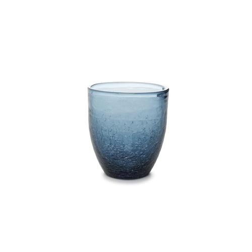 Glas crackle 25cl blauw f2h