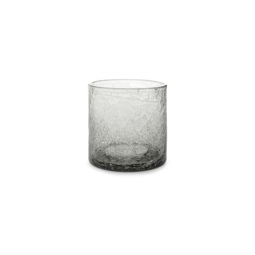 Glas crackle 22cl grijs f2h