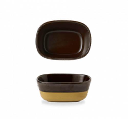 Schaal 12x8.8x5CM Emerge Cinnamon Brown