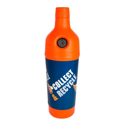 Afvalbak petman blauwe wikkel inh 210l diam 58cm oranje