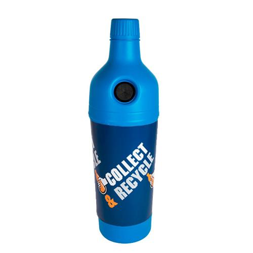 Afvalbak petman blauwe wikkel inh 210l diam 58cm blauw