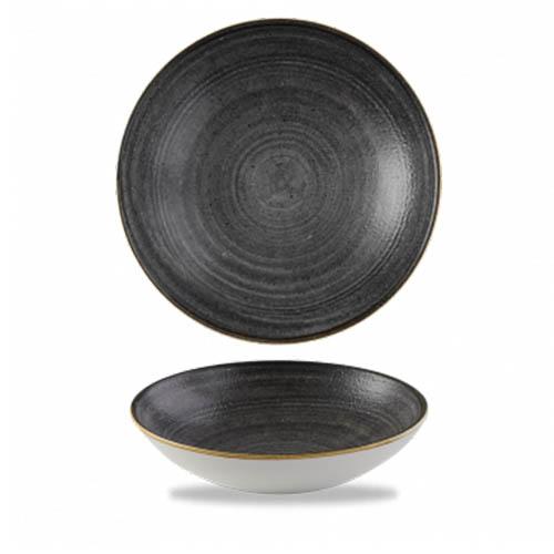 Coupeschaal 18.2CM Stonecast raw black