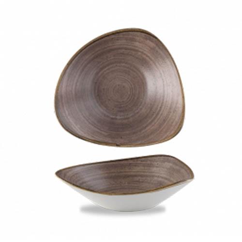 Direhoekschaal 23.5CM Stonecast raw brown