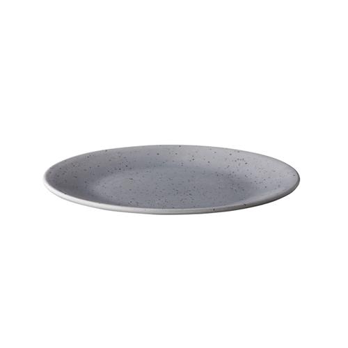 Bord diam 22.8cm tinto mat grijs q authentic