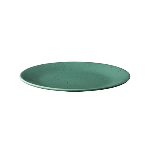 Bord diam 22.8cm tinto mat groen q authentic