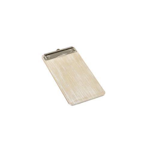 Menu rekening klembord afm 23.5x12.5cm hout whitewash