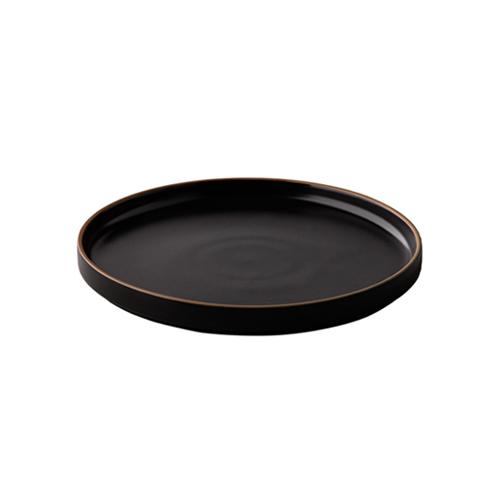 Bord laag diam 15cm japan zwart q authentic