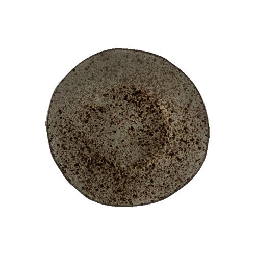 Bord diam 16cm stoneblack q authentic