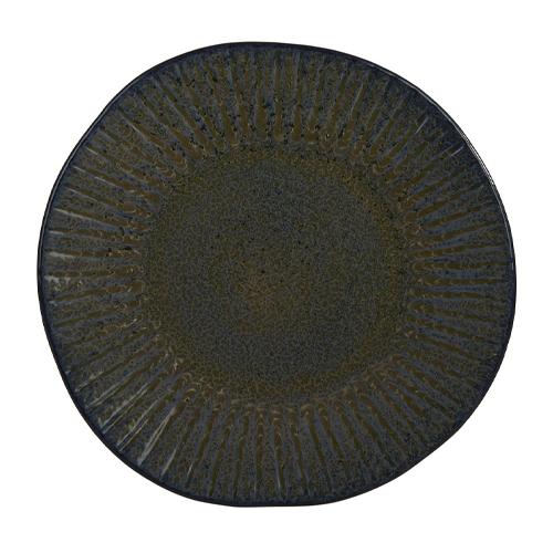 Bord diam 28.5cm stoneblue q authentic