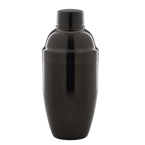 Cobbler cocktailshaker gun metal zwart 500ml Stylepoint
