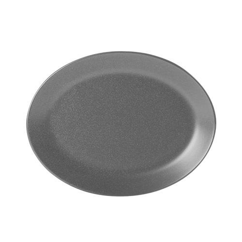 Bord ovaal afm 30.5x23.5cm graphite porcelite seasons