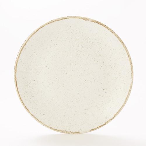 Bord coupe diam 30cm oatmeal porcelite seasons