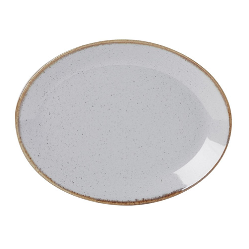 Bord ovaal afm 30.5x23.5cm stone porcelite seasons