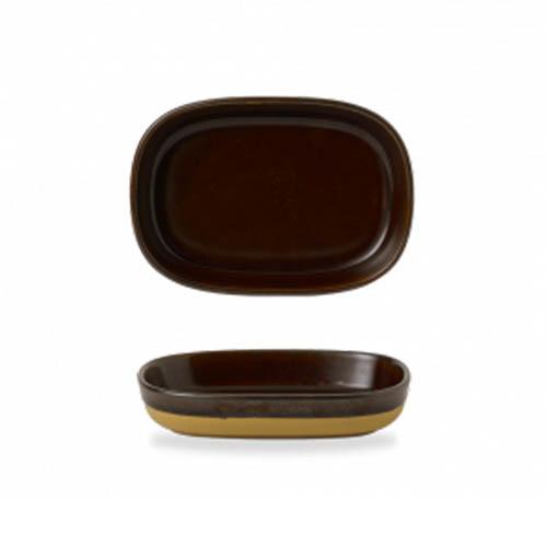 Schaal Tray 17.3 11.9 3.3CM Emerge Cinnamon Brown